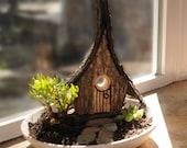 Fairy Cottage - Wood Bark...