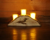 Candle Holder with Loon -...