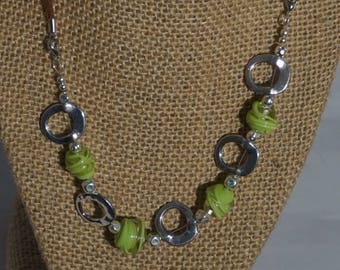Lime and Silver Convertible Necklace