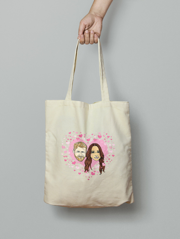 Royal Wedding Gift Prince Harry And Meghan Markle Tote Bag Etsy