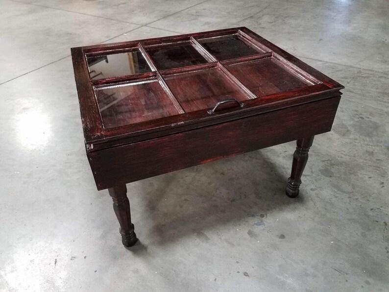 Sale Shadow Box End Table Rustic End Tables Shadow Box Etsy