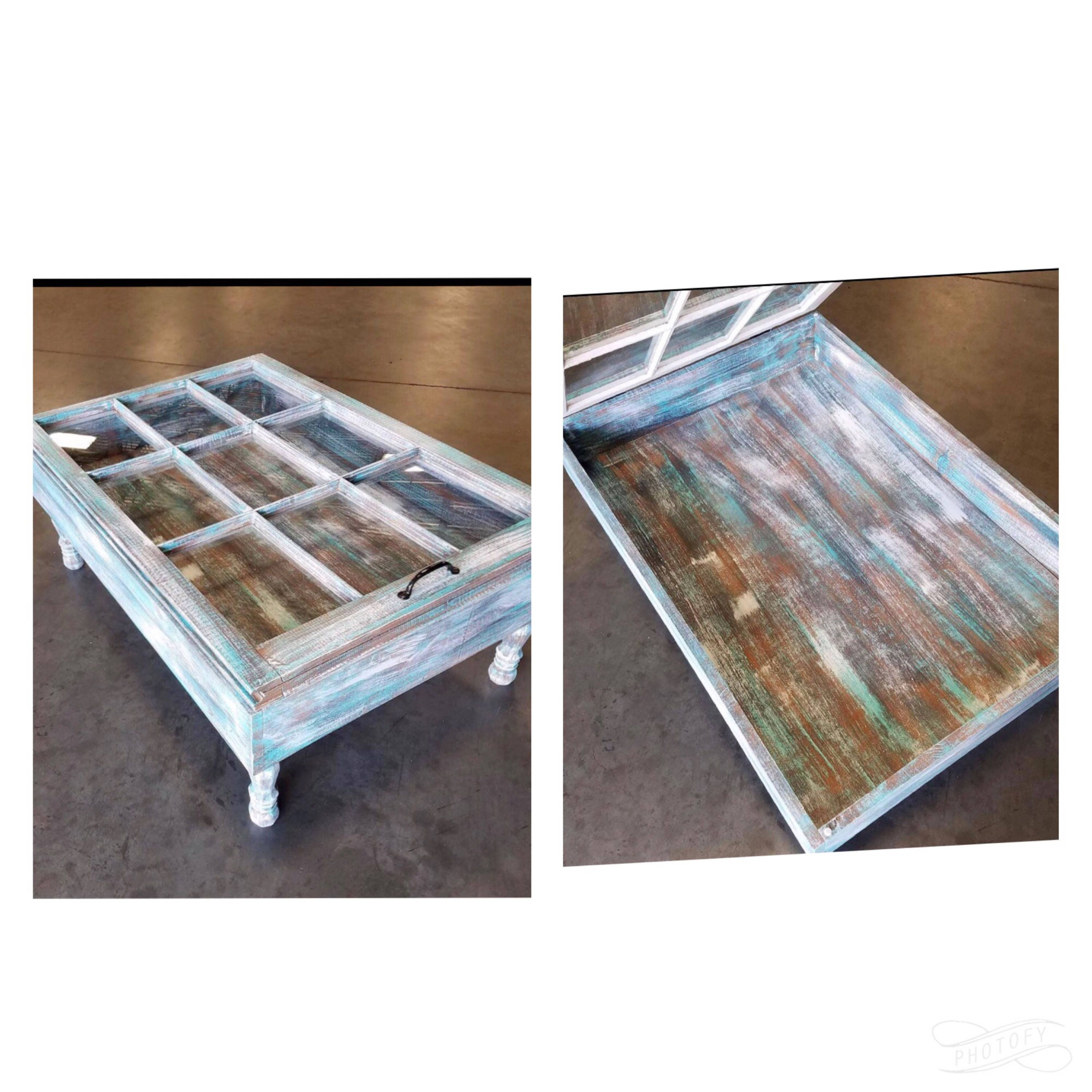ON SALE Beach House Coffee Table Rustic Coffee Table Glass
