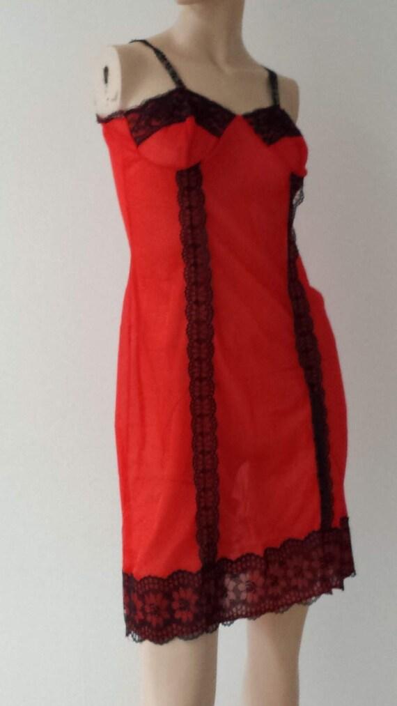 50's vintage slip dress luxurious neglige lingeri… - image 2