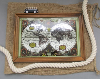 Travel map vintage etsy uk world map gift vintage world map map lovers vintage map old world map wall art display mirror map wall decor travel gift gumiabroncs Gallery