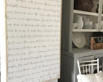 Wooden Scripture Wall Art Etsy