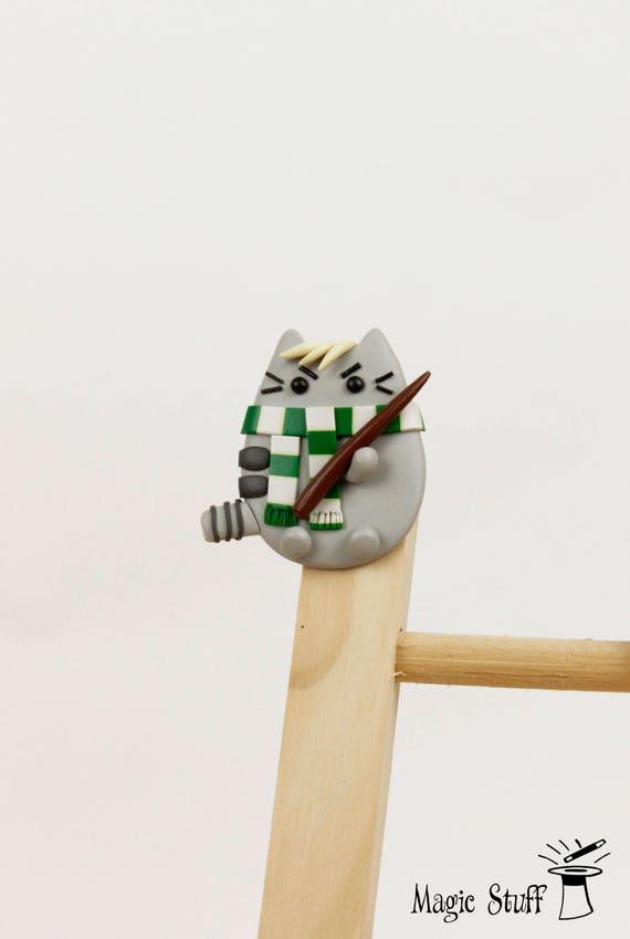 Superior Slytherin Brooch Draco Malfoy Pin Gift For Kids Pusheen Brooch | Etsy