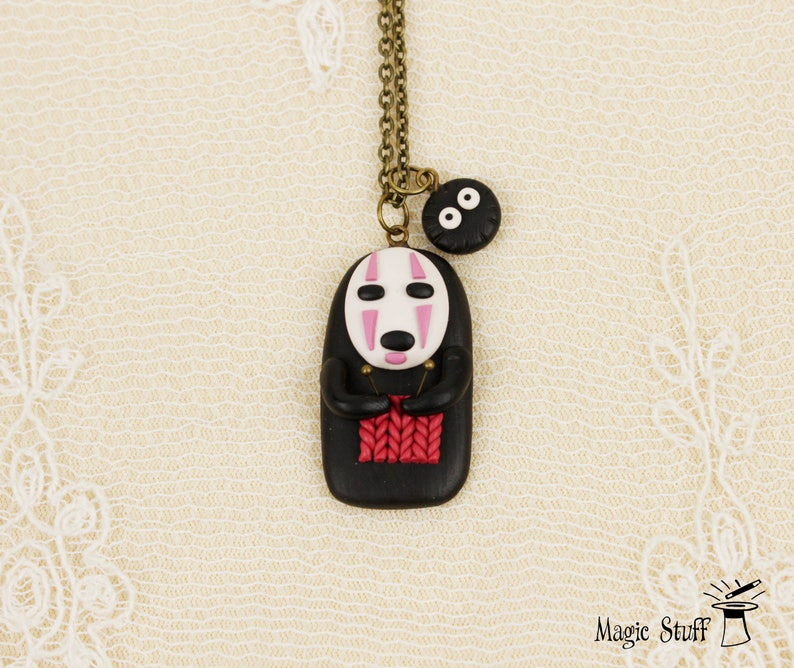 KAONASHI NO FACE CHARM EARRINGS SPIRITED AWAY FACELESS JAPANESE ANIME