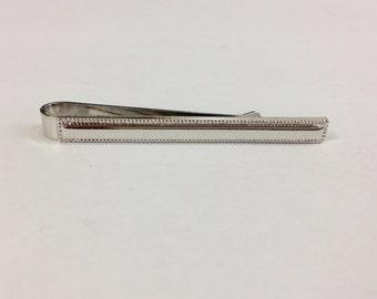 Silver Tone Bead Border Edge Tie Slide