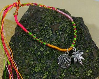 Love Cannabis Braided Friendship Bracelet.
