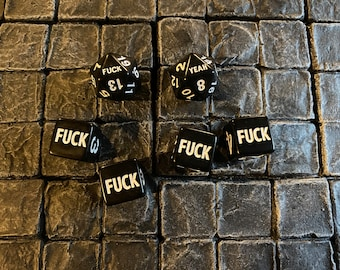 2 F*uck D20s and 4 F D6 - 20 sided dice- 6 Sided Dice - Dungeons and Dragons, Pathfinder  Dungeon Master, DM, RPG