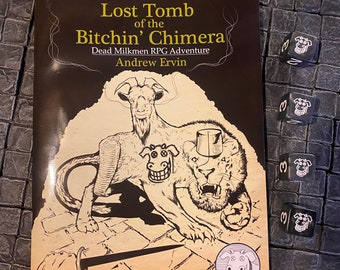 Lost Tomb of the Bitchin' Chimera with four limited edition dice - DnD D&D Dungeons and Dragons RPG OSR Role playing Games