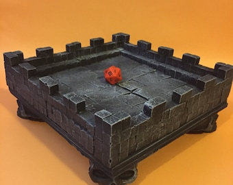 Dice Tray, Modular, 7x7 D&D Pathfinder Warhammer Dungeon Gaming Fantasy TableTop Miniature