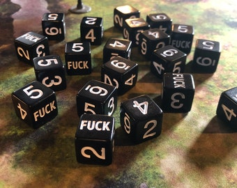 FOUR F*uck 6 Sided Dice - Dungeons and Dragons, Pathfinder  Dungeon Master, DM, RPG