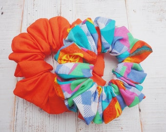 Pack Of Two Scrunchies In Bright Colours