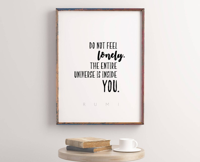 image regarding Printable Quotes About Life called RUMI Quotations, Cheer up Present, Divorce Present, Inspirational Estimate, Lifetime Rates, 16x20, Printable Offers, Dorm Wall Artwork, Offers pertaining to existence,