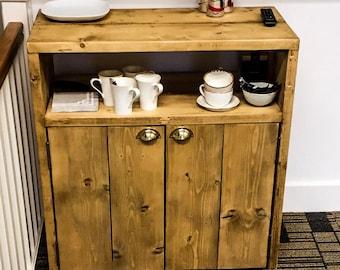 HUSFREYJA (Caddy) - Handmade Industrial Chic Reclaimed Solid Wood , Cabinet, Cupboard. Custom Made To Order.