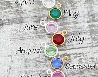 Swarovski Birthstone Charm, Add On Charm, Personalized Birthstone Necklace, Swarovski Crystal, Custom Necklace, Gift For Her, Gift Jewelry