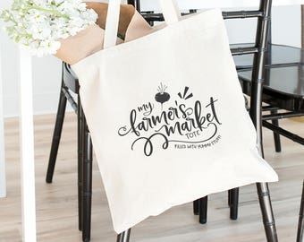 Farmers Market Heavy Canvas Tote