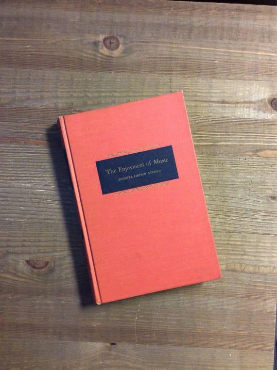 The Enjoyment Of Music Music History Music Appreciation Music Teacher Gift Music Vintage Textbook Music Textbook
