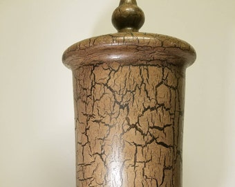 """Tall 19"""" urn with lid very classic."""