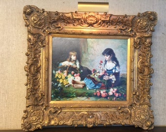 Two Young flower Girls and Flowers