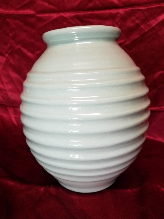 Royal Haeger Celadon Vase Etsy