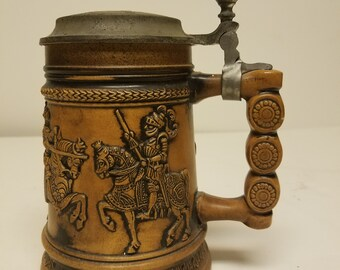 """Lovely German Stein   """"Knights on Horses"""""""