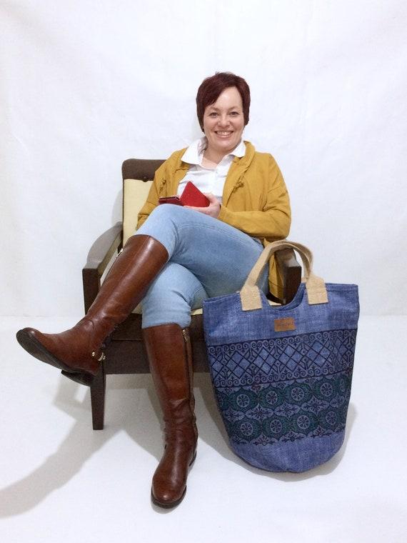 Market bag, XL tote bag , cotton bags , shopping  bag , handmade bags, oversized laptop bag , best friend gift, picnic bag gift for mom