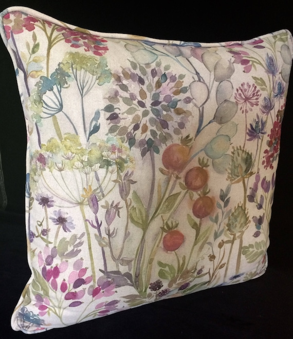 "VOYAGE HEDGEROW cushion cover in Multi Colourway, 20"" decorative pillow, 20 inches voyage pillow, gift for new home, next cushions,cottage"
