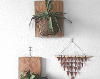 Triangle Drop Wall Hanging, Terra Cotta