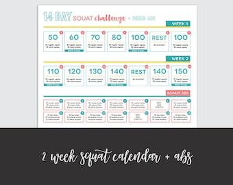 Squat Challenge Etsy
