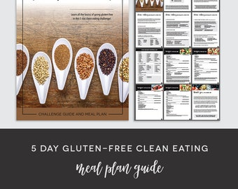5 Day Gluten-Free Clean Eating Meal Plan