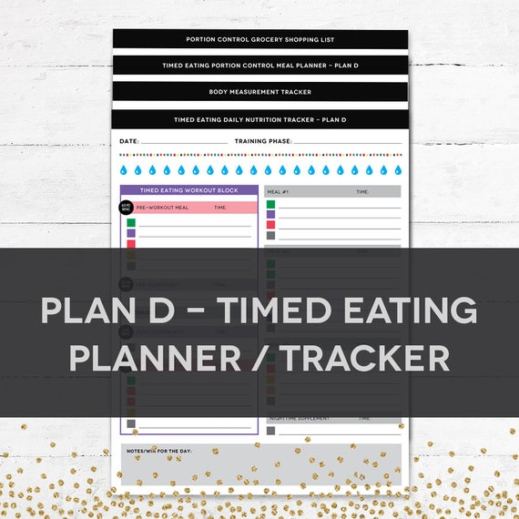 timed eating planner tracker plan d etsy