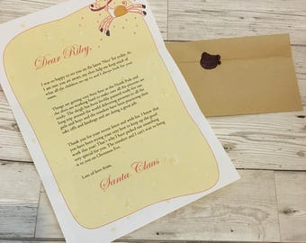 Letter From Santa. Santa letter. Father Christmas. Personalised from santa. Merry Christmas. Naughty or nice list