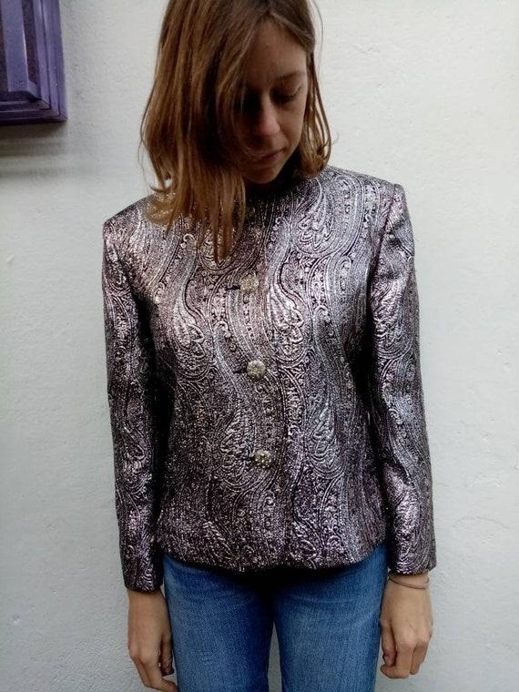 80s silver jacket