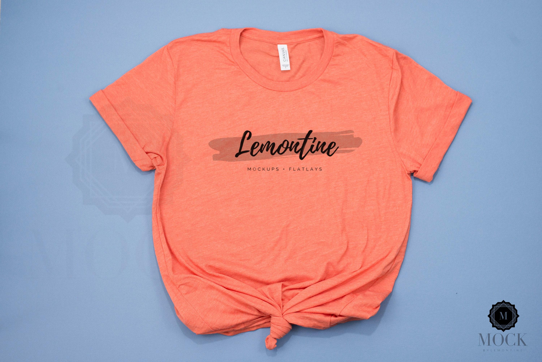 3001 Bella Unisex Short Sleeve Jersey Tee photography Red 4th Of July Shirt mockup mockup Canvas flat lay