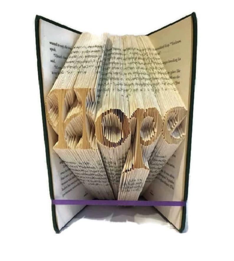 Hope Book Folding Pattern Relaxing Home Decor Handmade Zen