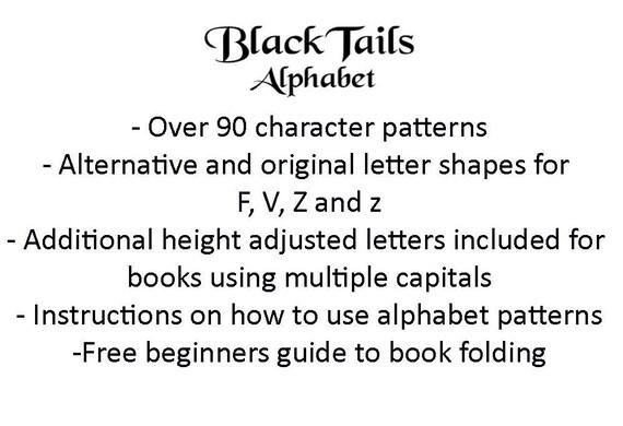 Book Folding Alphabet Patterns Make A Customised Etsy
