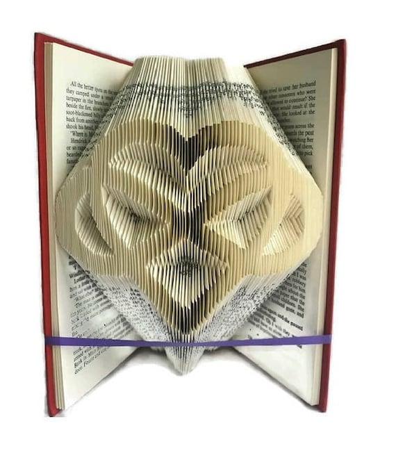 Infinity Heart Book Folding Pattern Celtic Style Heart Love Etsy Unique Book Folding Patterns Free Download