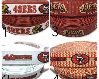 49ers Ribbon, San Francisco Ribbon, San Francisco 49ers Ribbon, Forty  Niners Ribbon, San Francisco 49er ribbon, SF 49ers Ribbon