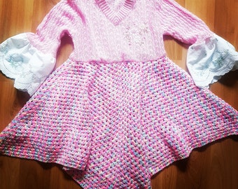 upcyled knitted dress size 4