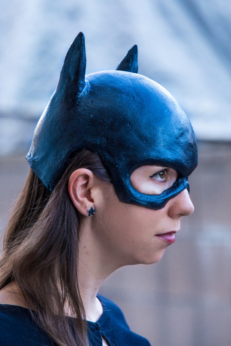 Batgirl mask cowl Catwoman for Halloween cosplay | Etsy