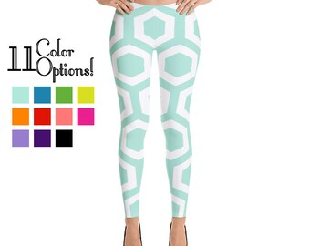 72ecaee87570b3 Colorful Hexagon Leggings - 11 Colors Available