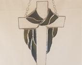 Cross w Drape Sun Catcher