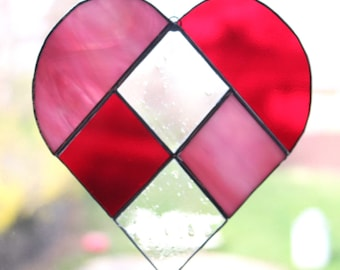Heart Medium: Pink, Clear, Red