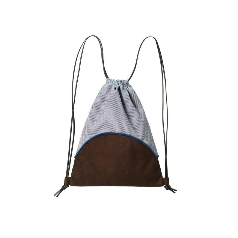 ETTA-backpack convertible in shoulder bag browngreyBlue