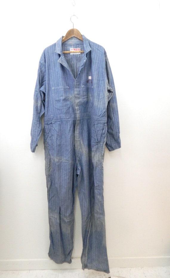 d03afa1a7d0 Vintage Coveralls....1950s Men s Denim Coveralls...Work