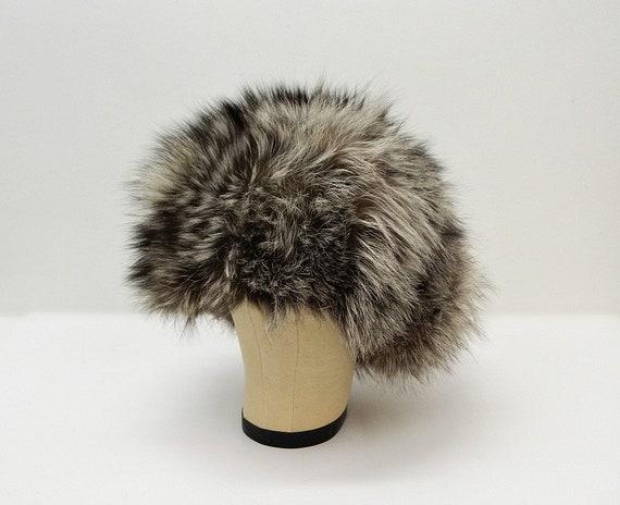Vintage 60s Fur Hat  ...  Raccoon or Badger Fur C… - image 5
