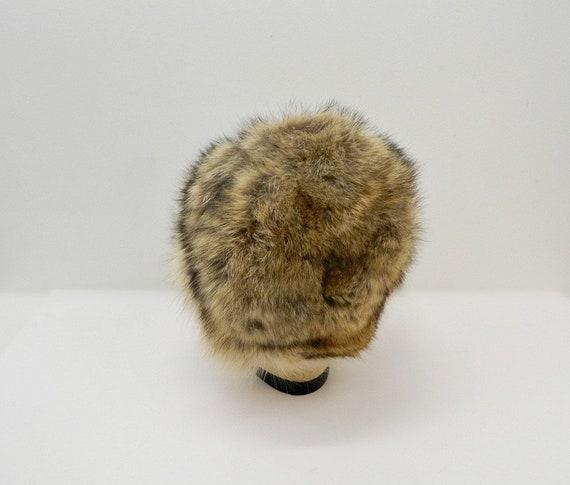 Vintage 1960s Fur Hat ... Tan, Brown, Black Racco… - image 5