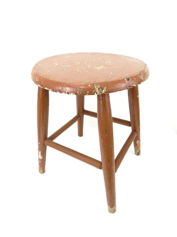 Brilliant Vintage 1960S Painted Brown Stool Little Brown Stool Chippy Childs Size Stool Plant Stand Wooden Stool Furniture Piece Ocoug Best Dining Table And Chair Ideas Images Ocougorg